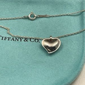 Tiffany & Co. Curved Heart Pendant Necklace